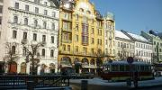 Прага зимой. Вацлавская площадь